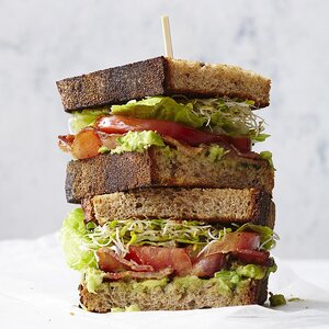 BLATs (Bacon-Lettuce-Avocado-Tomato Sandwiches) for Two
