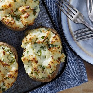 Twice-Baked Goat Cheese Potatoes