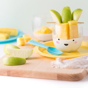 """Pine-Apple"" Fruit & Yogurt Cups"