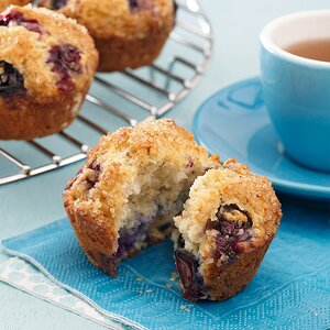 Blueberry-Oat Muffins
