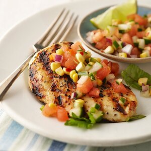 Grilled Lime Chicken with Watermelon Salsa