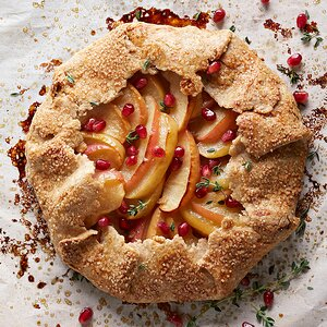 Apple-Pomegranate Galette with Fresh Thyme