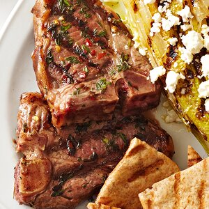 Grilled Lamb Chops with Thyme