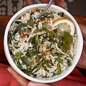 Orzo with Mint, Peas & Parmesan