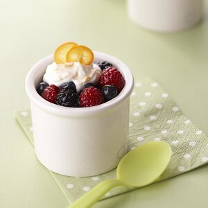 Summer Berries with Orange Cream Topping