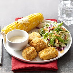 Crispy Baked Turkey Nuggets with Honey-Mustard Slaw