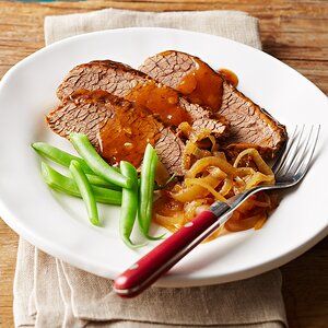 Brisket with Ale BBQ Sauce