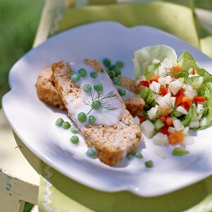 Herbed Salmon Loaf with Creamed Peas