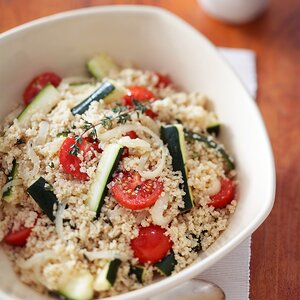 Couscous With Zucchini & Cherry Tomatoes