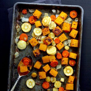 Roasted Butternut Squash & Root Vegetables