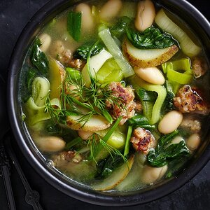 Leek, Potato & Spinach Stew