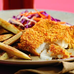 Oven-Fried Fish & Chips