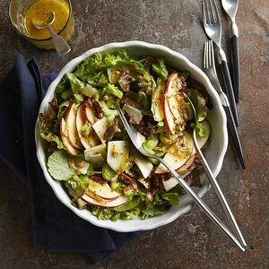 Apple & Cheddar Side Salad with Mustard Vinaigrette