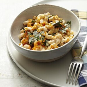 Mac & Cheese with Collards