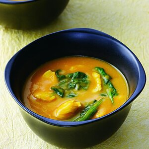 Curried Squash & Chicken Soup