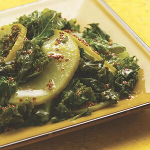 Kale with Apples & Mustard