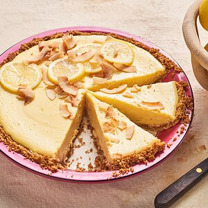 Lemon Icebox Pie with Coconut-Graham Cracker Crust