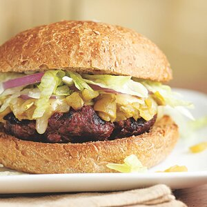 Green Chile Bison Burger