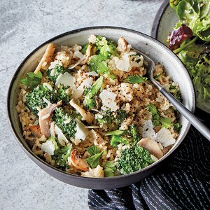 Slow-Cooker Cheesy Rice with Broccoli