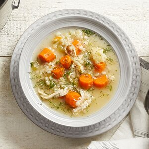 Instant Pot Chicken Soup with Root Vegetables & Barley