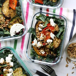 Grilled Vegetable Salads with Goat Cheese