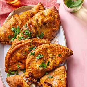 Hand Pies with Curried Beef & Peas
