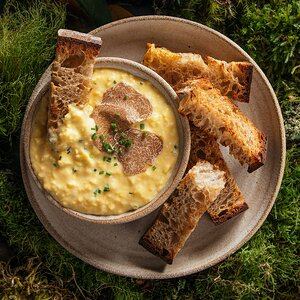 Soft Scrambled Eggs with Truffle Butter