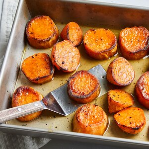 Melting Sweet Potatoes with Maple Butter