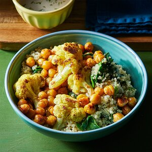 Roasted Chickpea Curry Bowl
