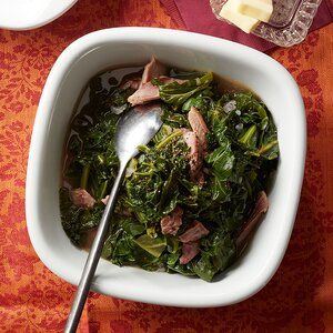 Braised Greens with Smoked Turkey
