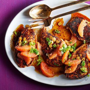 Ancho-Spiced Chicken Skillet with Grapefruit Salsa