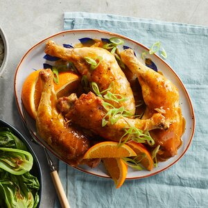 One-Pan Roasted Chicken Legs with Citrus & Star Anise