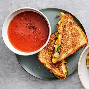 Veggie Grilled Cheese with Tomato Soup
