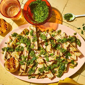 Grilled Hearts of Palm with Tapenade