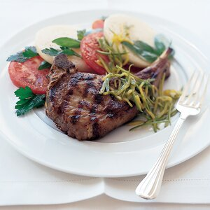 Veal Scallopine With Charred Cherry Tomato Salad Recipe Nick Fauchald Food Wine