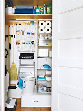 How To Organize Your Utility Closet Real Simple