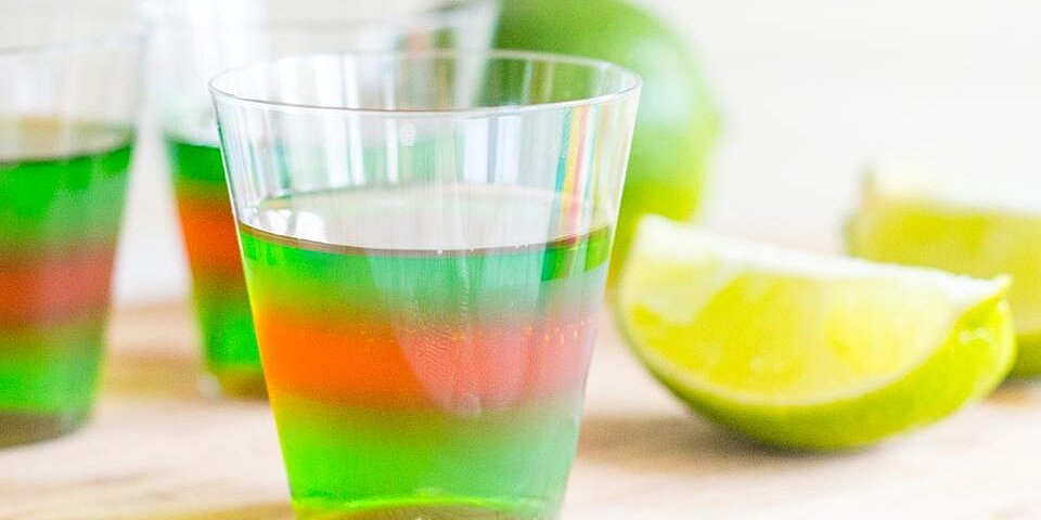 layered margarita jell o shots recipe