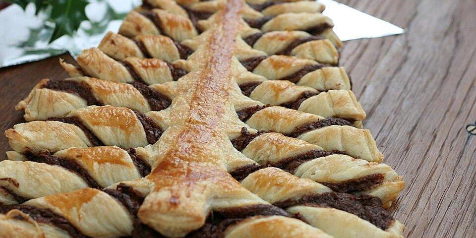 nutella pastry christmas tree recipe