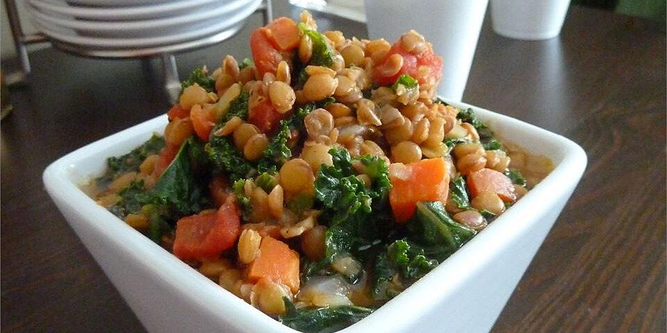 lemony lentils with kale recipe