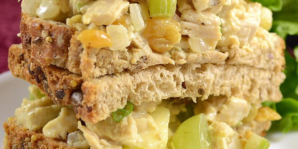 fruity curry chicken salad recipe