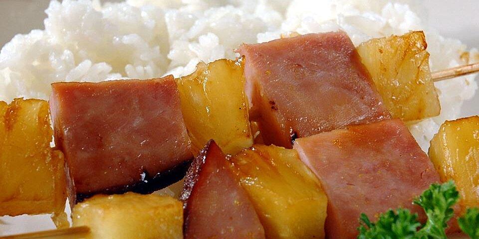 ham and pineapple kabobs recipe