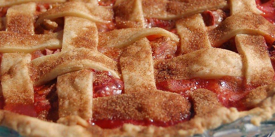 summer strawberry rhubarb pie recipe