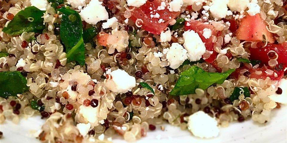 spinach tomato and feta quinoa salad recipe