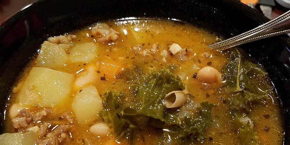 almost tuscan sausage and kale soup recipe