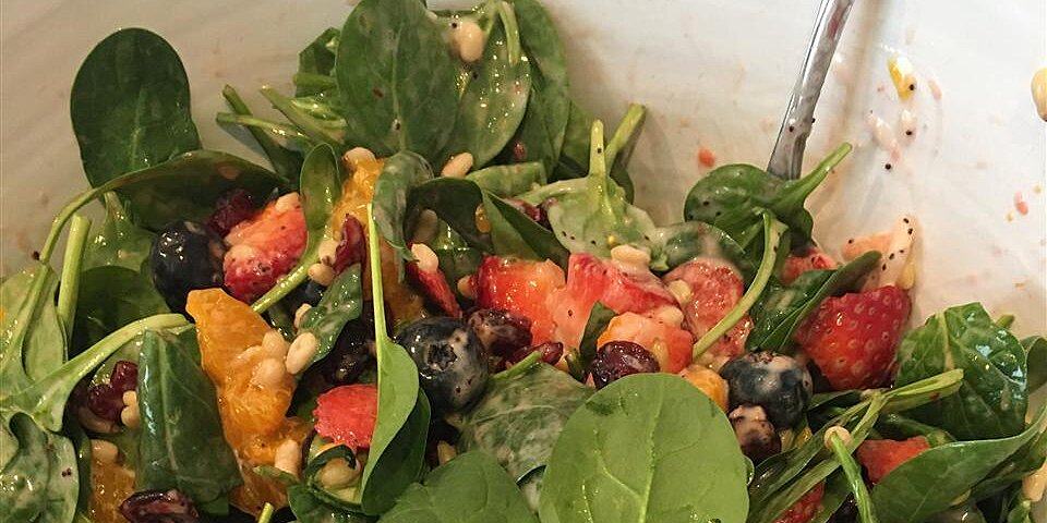 the perfect sunday brunch spinach salad recipe