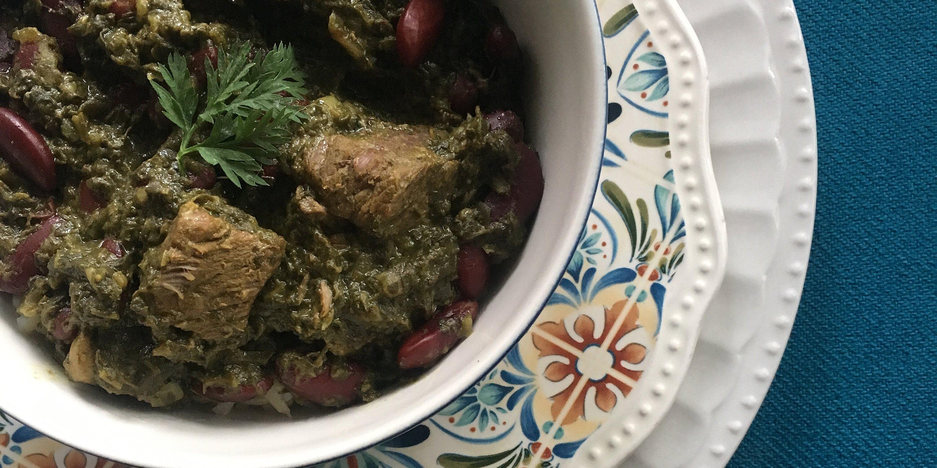 ghormeh sabzi persian herb stew recipe