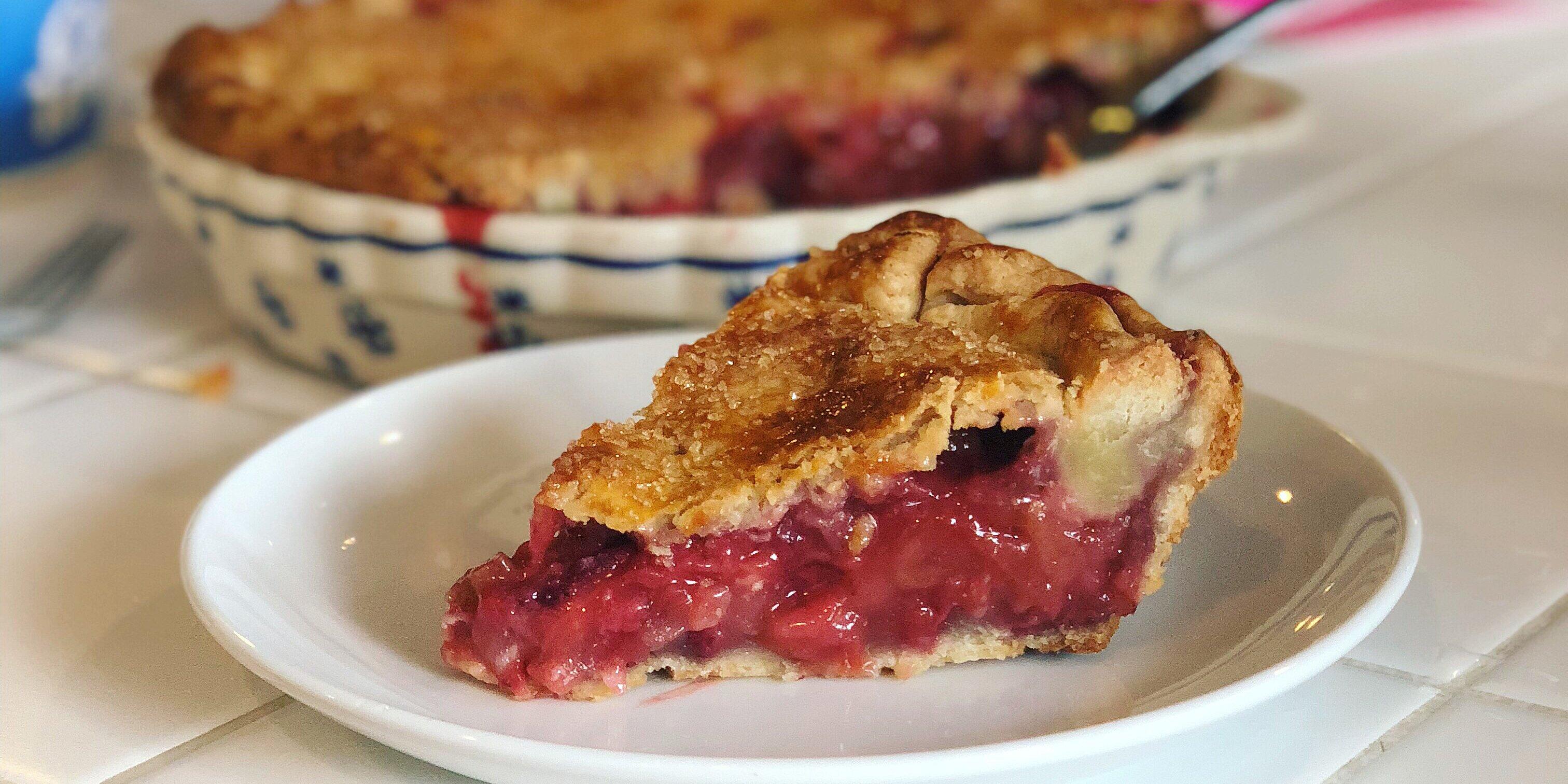 rhubarb and strawberry pie recipe