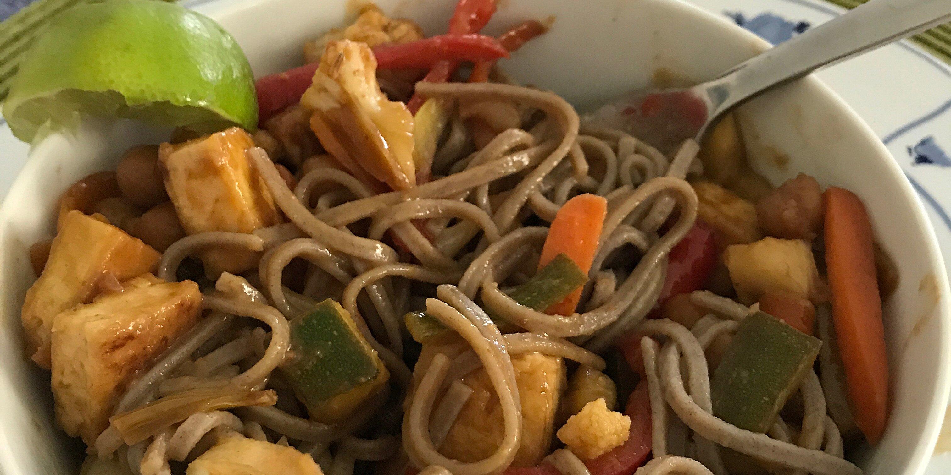 shirataki meatless meat pad thai recipe
