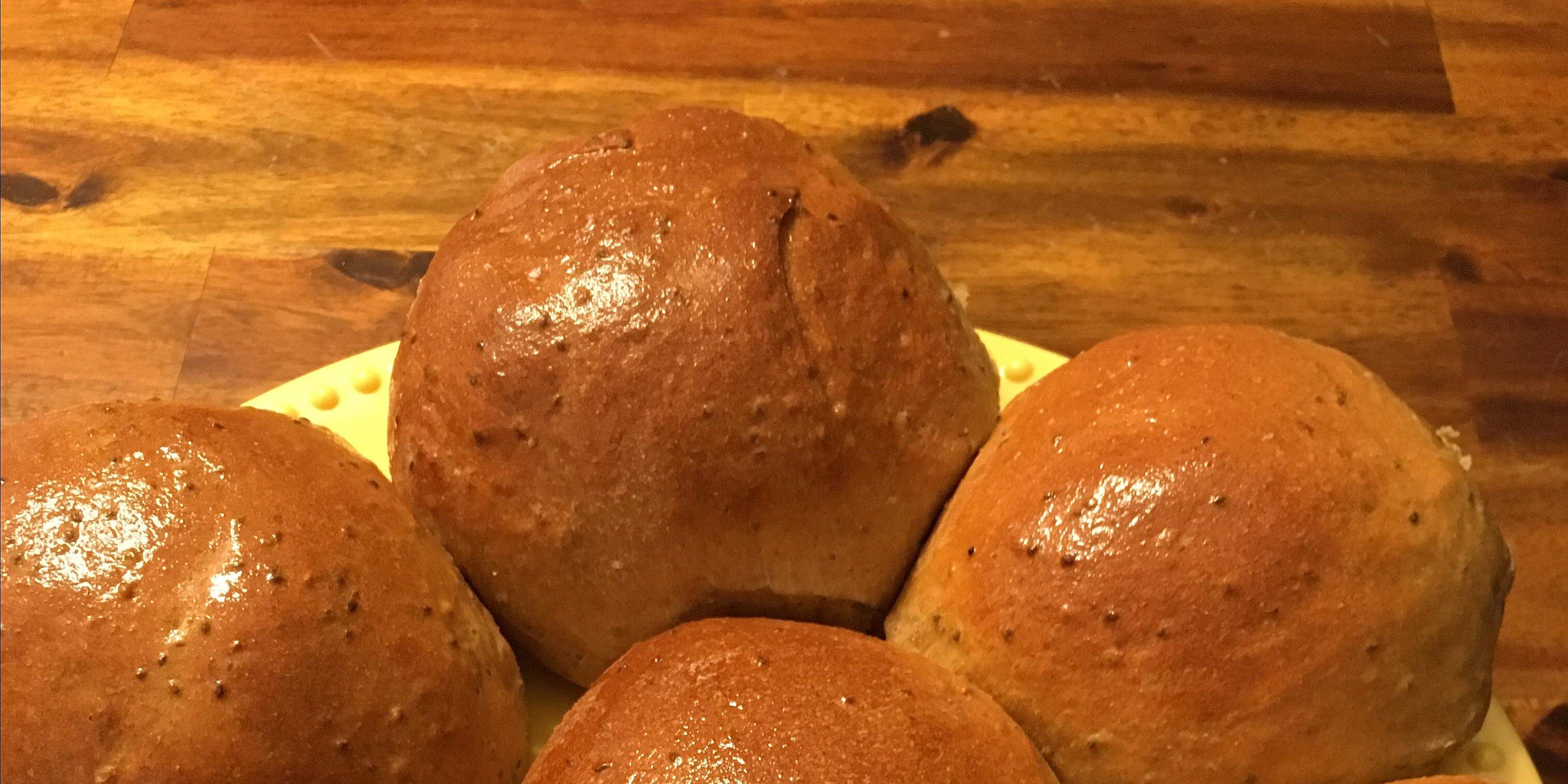 healthy whole wheat bread machine buns recipe
