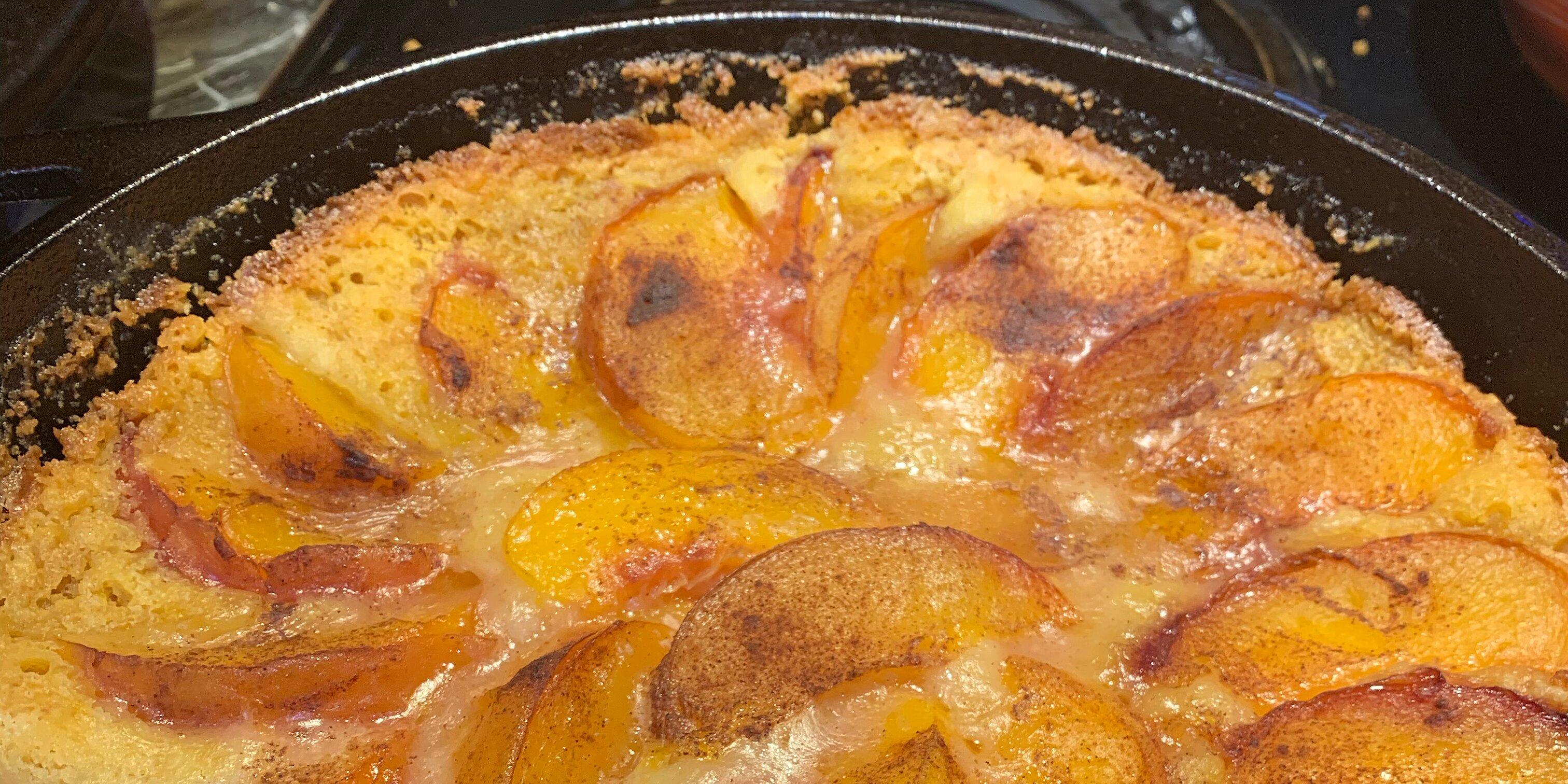dutch oven peach pecan cobbler recipe